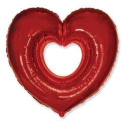 """Balon, foliowy 24"""" FX - """"Serce czerwone"""""""