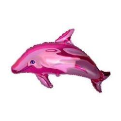 """Balon, foliowy 24"""" FX - """"Delfin duży """"(różowy)"""