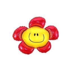 """Balon, foliowy 24"""" FX - """"Kwiatek"""" (czerwony)"""