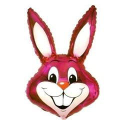"""balony, balony na hel, dekoracje balonowe, balony Łódź, balony z nadrukiem, Balon, foliowy 24"""" FX - """"Rabbit (różowy)"""