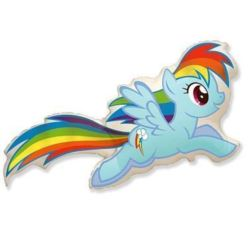 """Balon, foliowy 24"""" FX - """"Kucyki: Rainbow Dash"""""""
