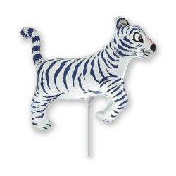 """Balon foliowy 14"""" FX - """"Tygrys"""" (biały)"""