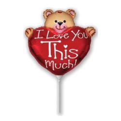 """balony, balony na hel, dekoracje balonowe, balony Łódź, balony z nadrukiem, Balon foliowy 14"""" FX - """"Miś z sercem"""""""