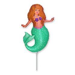"""balony, balony na hel, dekoracje balonowe, balony Łódź, balony z nadrukiem, Balon foliowy 14"""" FX - """"Pretty Mermaid"""""""