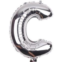 """Balon foliowy 32"""" litera """"C"""" srebrny"""