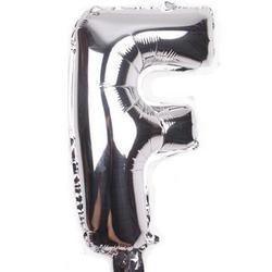 """Balon foliowy 32"""" litera """"F"""" srebrny"""