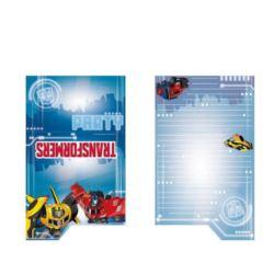 Zaproszenia z kopertami Transformers 8 szt.