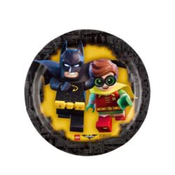 Talerze papierowe Lego Batman 18 cm, 8 szt