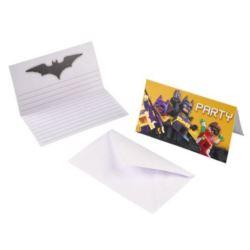 Zaproszenia Lego Batman 8 szt.