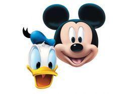 Maski papierowe Myszki Mickey i Kaczora Donald