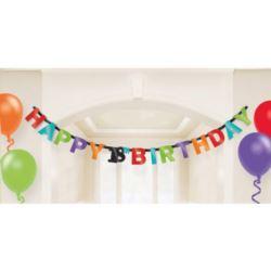 """balony, balony na hel, dekoracje balonowe, balony Łódź, balony z nadrukiem, Baner, """"18"""" urodziny HB 213x16 cm"""