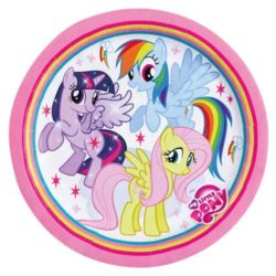 Talerze My Little Pony Rainbow 23 cm 8 szt.
