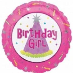 "Balon, foliowy 18"" SHP ""Birthday Girl"""