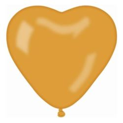 """balony, balony na hel, dekoracje balonowe, balony Łódź, balony z nadrukiem, Balon CRM metalik""""Serce bez nadruku"""" - złoty"""