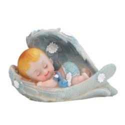 Figurka chłopiec Aniołek, niebieski 6,5 cm