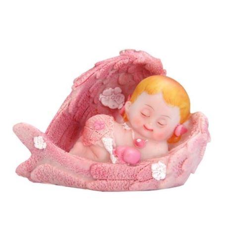 Figurka Dziewczynka Aniołek,różowy 6,5