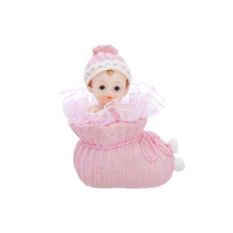 Figurka Dziewczynka w bucie,różowy 10,5 cm