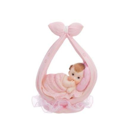 Figurka Dziewczynka w chuście, różowy, 11 cm