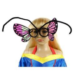 """Okulary """"Motylek"""" różowe"""