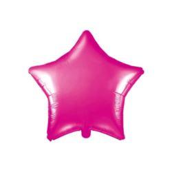 Balon foliowy Gwiazdka, 48cm, ciemny różowy 1 szt.