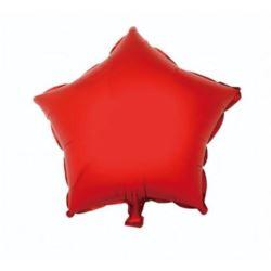 """Balon foliowy """"Gwiazda"""" czerwona, 36 cm"""