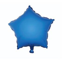 "Balon foliowy ""Gwiazda"" niebieska, 36 cm"