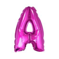 """Balon foliowy """"Litera A"""", różowa 35 cm"""