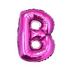 """Balon foliowy """"Litera B"""", różowa 35 cm."""