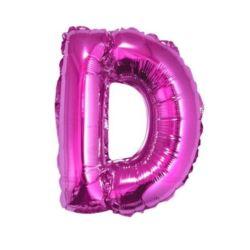 "Balon foliowy ""Litera D"" różowa 35 cm"
