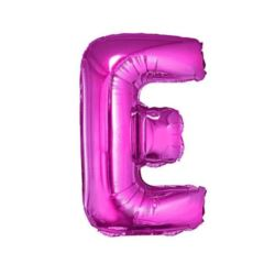 "Balon foliowy ""Litera E"", różowa 35 cm"