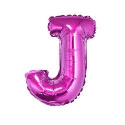 """Balon foliowy """"Litera J"""", różowa, 35 cm"""
