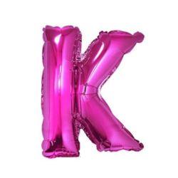 """Balon foliowy """"Litera K"""", różowa 35 cm"""