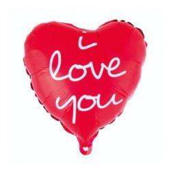 """balony, balony na hel, dekoracje balonowe, balony Łódź, balony z nadrukiem, Balon foliowy """" I Love You"""" (nadruk) 36 cm"""
