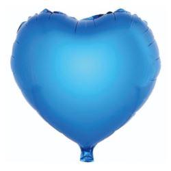 "Balon foliowy ""Serce' niebieski, 36 cm"